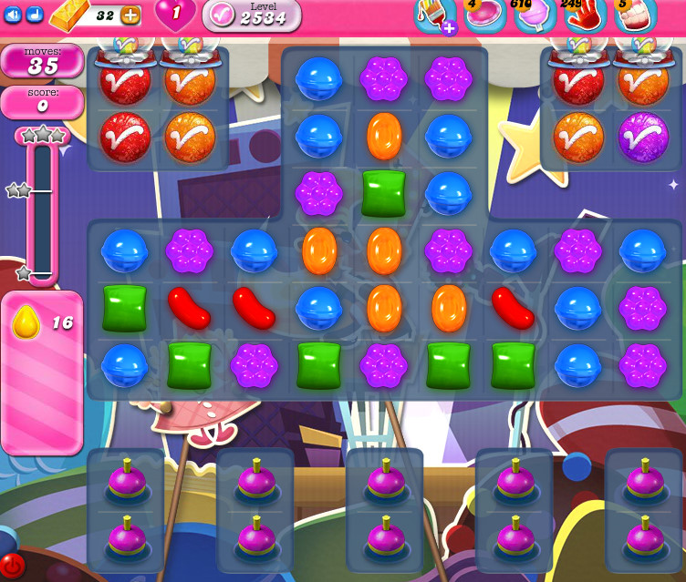 Candy Crush Saga level 2534
