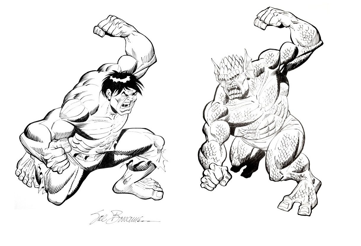 Marvel Comics of the 1980s: Hulk vs Abomination by Sal Buscema