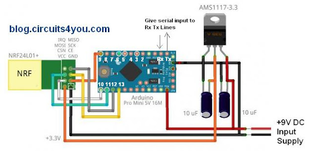 Wireless Serial Communication circuit