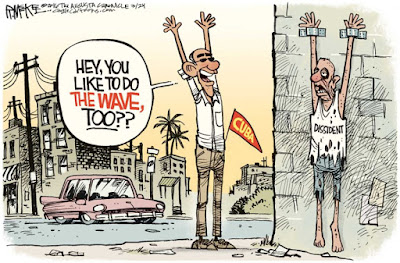 Image result for obama cuba cartoons
