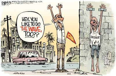 Image result for obama cuba cartoons