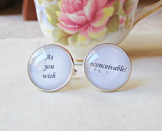 image the princess bride cufflinks cuff links as you wish inconceivable quote typography for him bridal wedding groom literature two cheeky monkeys