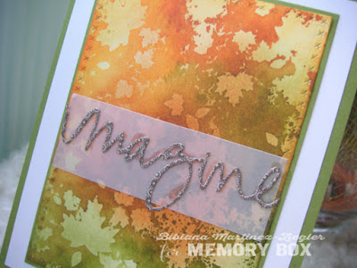 stenciled fall card detail