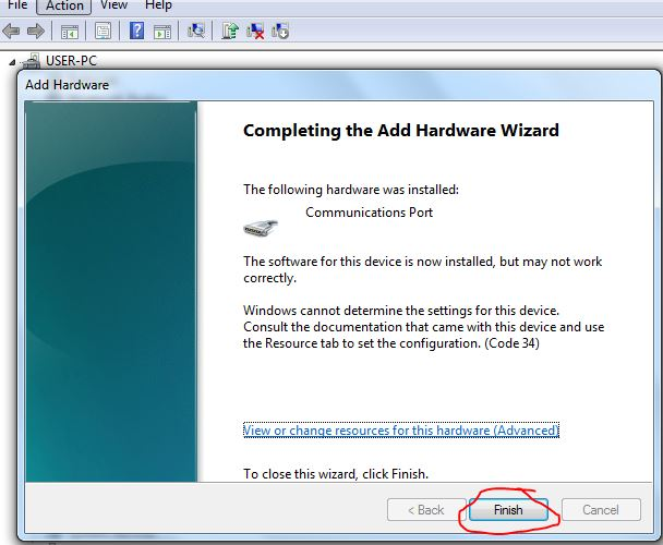 how to add port in windows 7