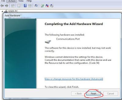 วิธีการ Add Ports(COM & LPT) ใน Windows 7