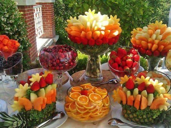 Todo para eventos presentaciones en mesa de frutas - Adornos de frutas para mesas ...