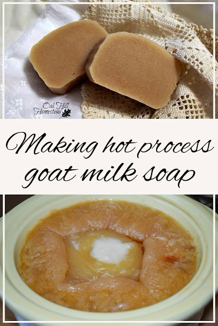 How to make hot process goat milk soap.