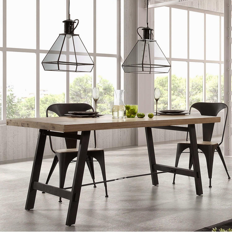 Mesas de comedor mesa de comedor con patas metalicas for Patas de mesa metalicas