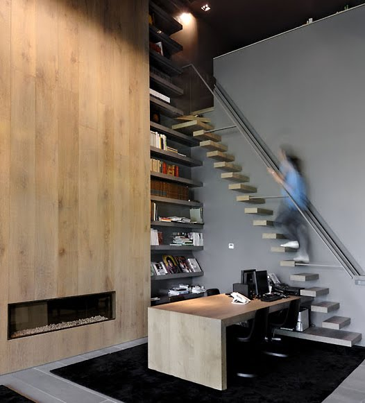 crazy stairs in A-Cero Modern Madrid Concrete House