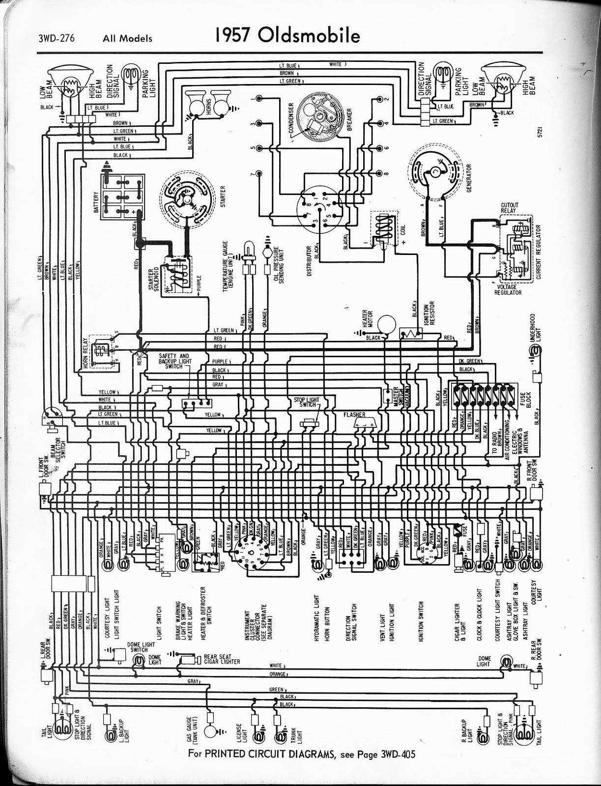 Free Auto Wiring Diagram: 1957 Oldsmobile Wiring Diagram
