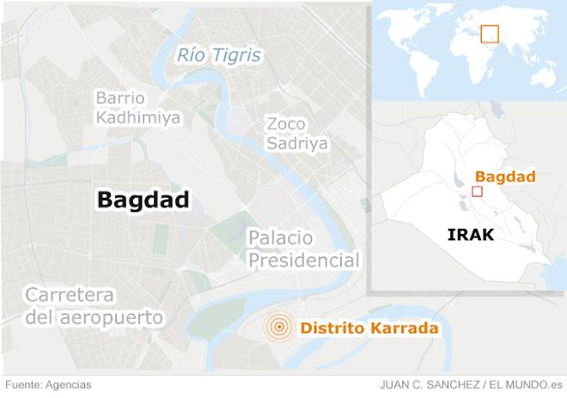 Dos ataques islámico en Bagdad y casi 200 muertos Estado islámico terror