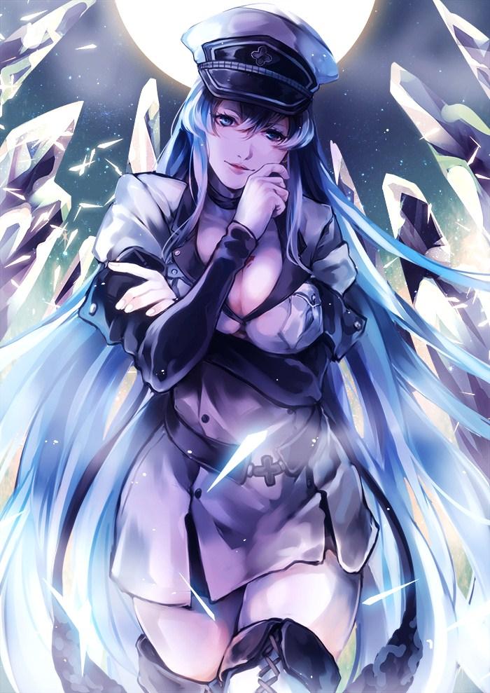 gambar hentai karakter anime esdeath,nsfw art toket gede,gambar animasi porno,cewek seksi payudara gede
