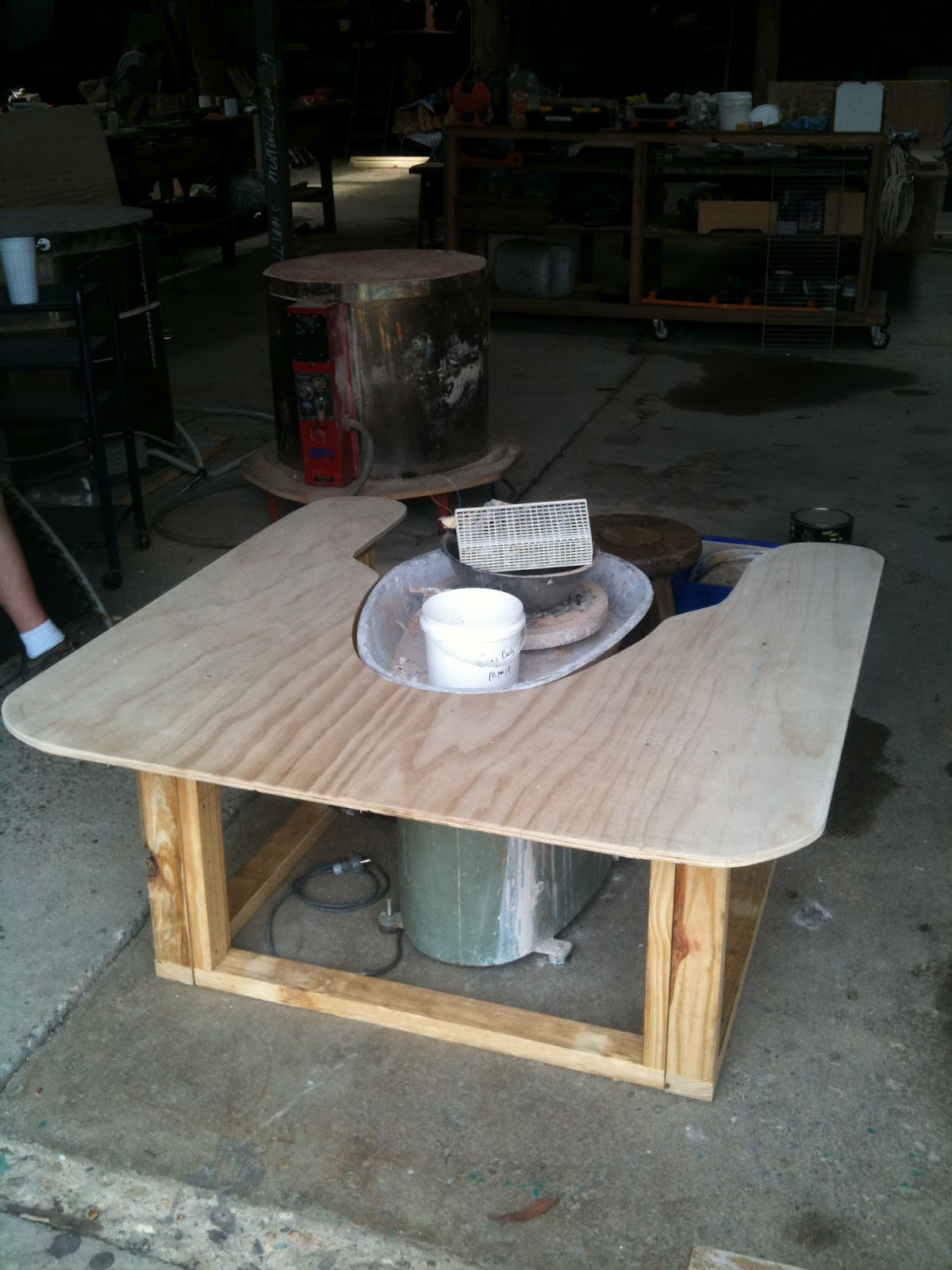 A Wheel Table Setting Up Your Pottery Studio Marian