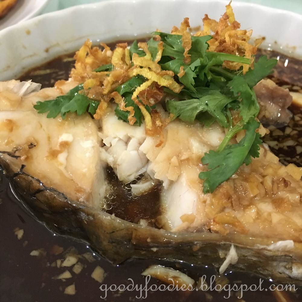 Goodyfoodies recipe steamed threadfin fish ma yau with for Steamed fish recipes