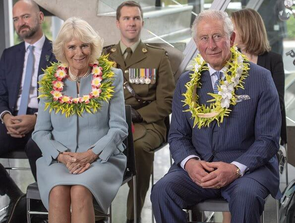 Prince of Wales and Duchess of Cornwall attended a service of remembrance at Mt Roskill War Memorial
