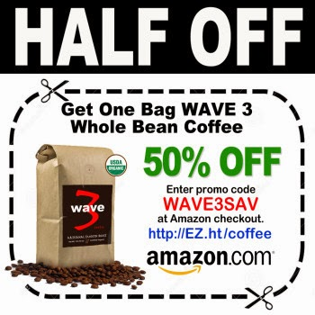 Calling All Coffee Lovers - 50% OFF of One Bag of WAVE 3 Whole Bean Coffee!