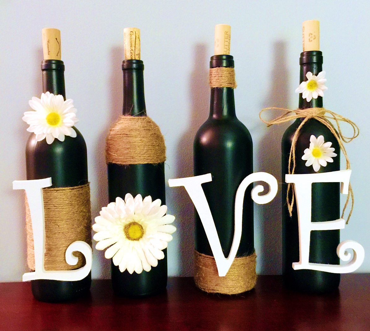 Dear Paradise Be Inspired Upcycle Wine Bottles