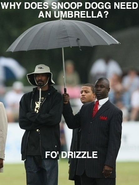 Funny Snoop Dog Joke Picture Umbrella Drizzle