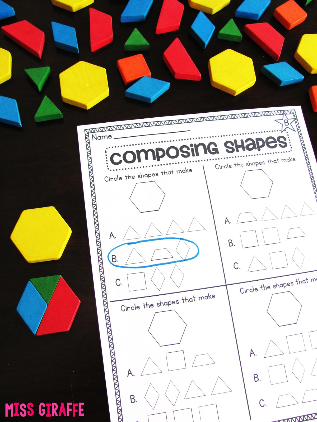 hight resolution of Miss Giraffe's Class: Composing Shapes in 1st Grade