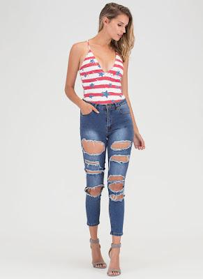 Flag Stars and Stripes Patriotic Bodysuit