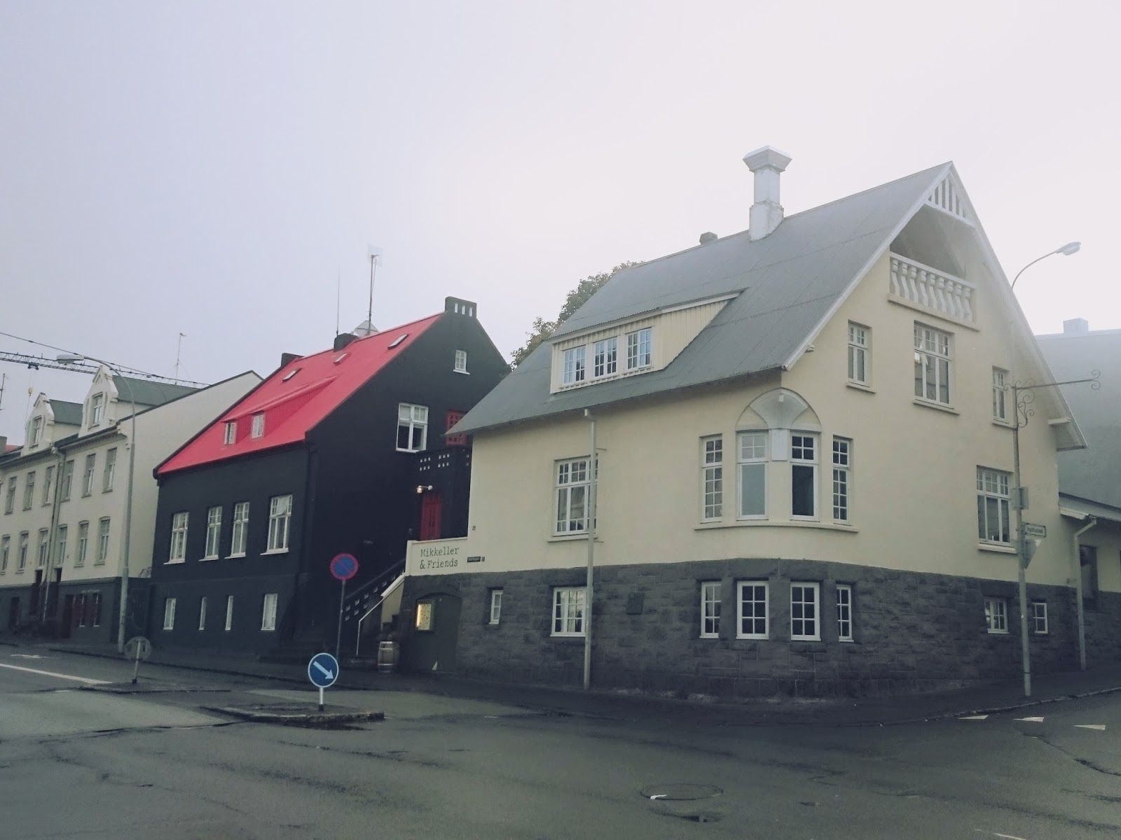 Reykjavik, miasto, stolica, Islandia, Krajobraz, domy, ulica