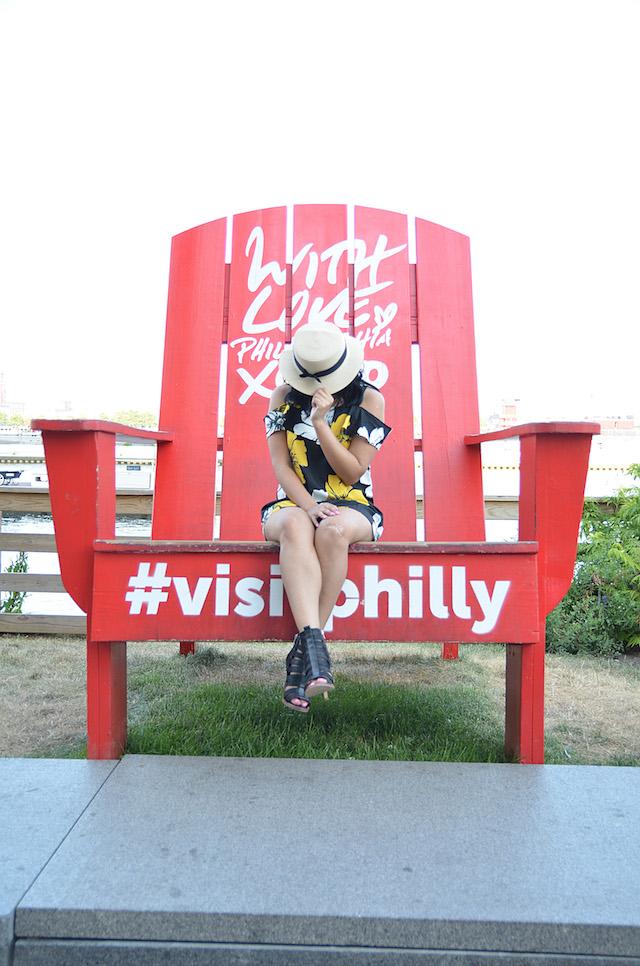Wearing: Dress/Vestido: SheIn Shoes/Zapatos: Dolce Vita Hat/Sombrero: Macy's-Mari Estilo-mariestilotravels-Visit Philly