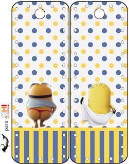 Marcapaginas para Imprimir Gratis de Minions Sexy.