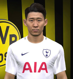 PES 2017 Faces Son Heung-min by FaceEditor Jefferson_SF