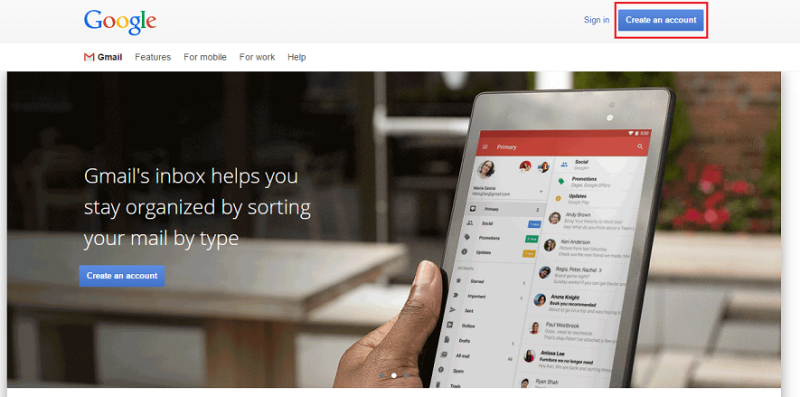 Membuat akun Gmail