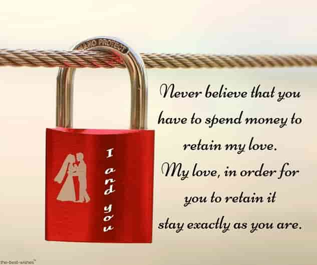 true love message don't need money