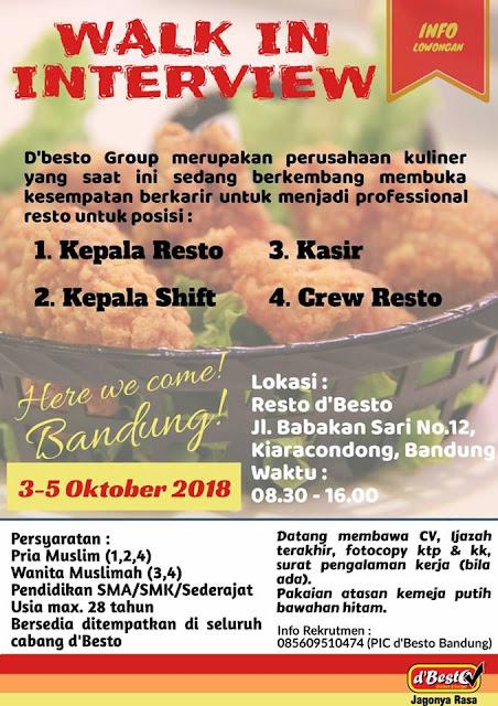 Lowongan kerja kasir dbesto group Bandung