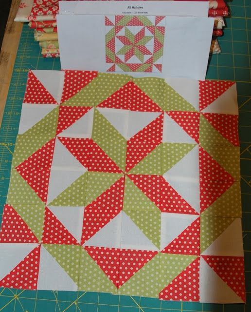 All Hallows Block Quilted by Sisters & Quilters , Free Pattern by Langley Quilters' Guild