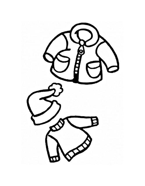Mewarnai Gambar Pakaian Anak - 5