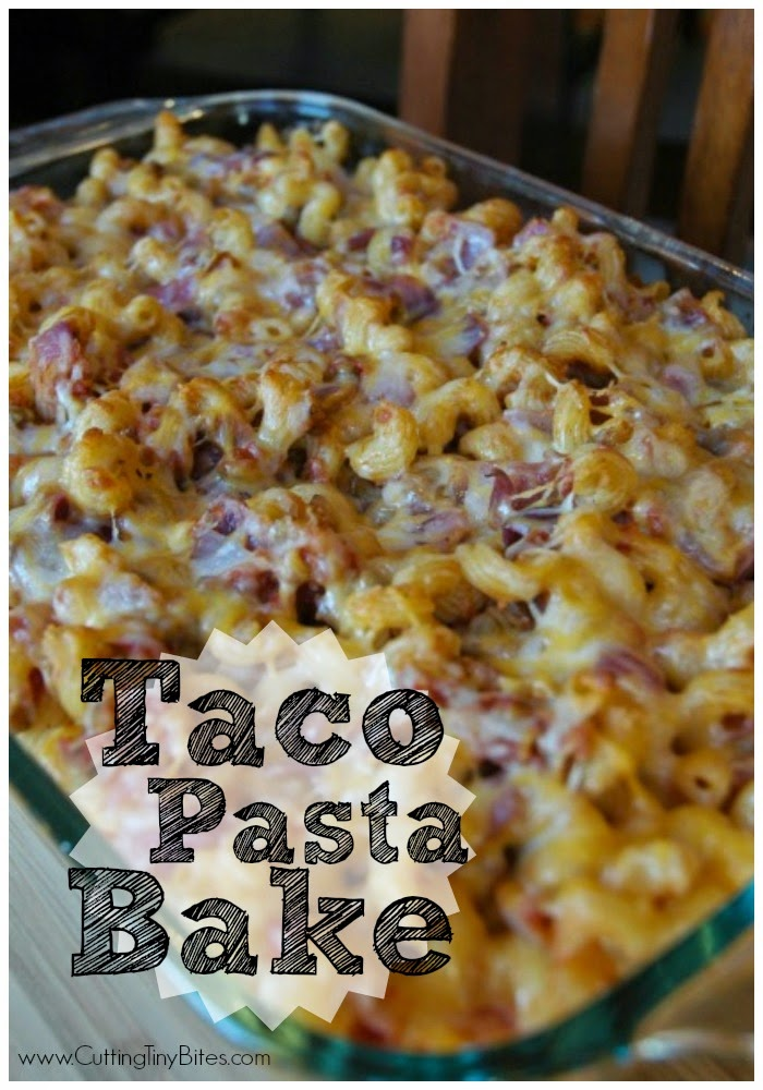 Taco Pasta Bake- Hearty weeknight vegetarian meal with great flavor