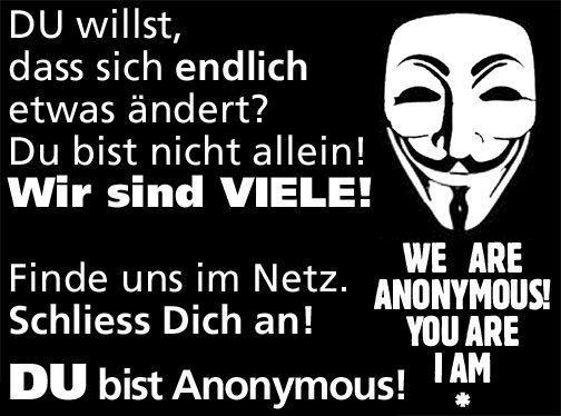 du bist anonymous