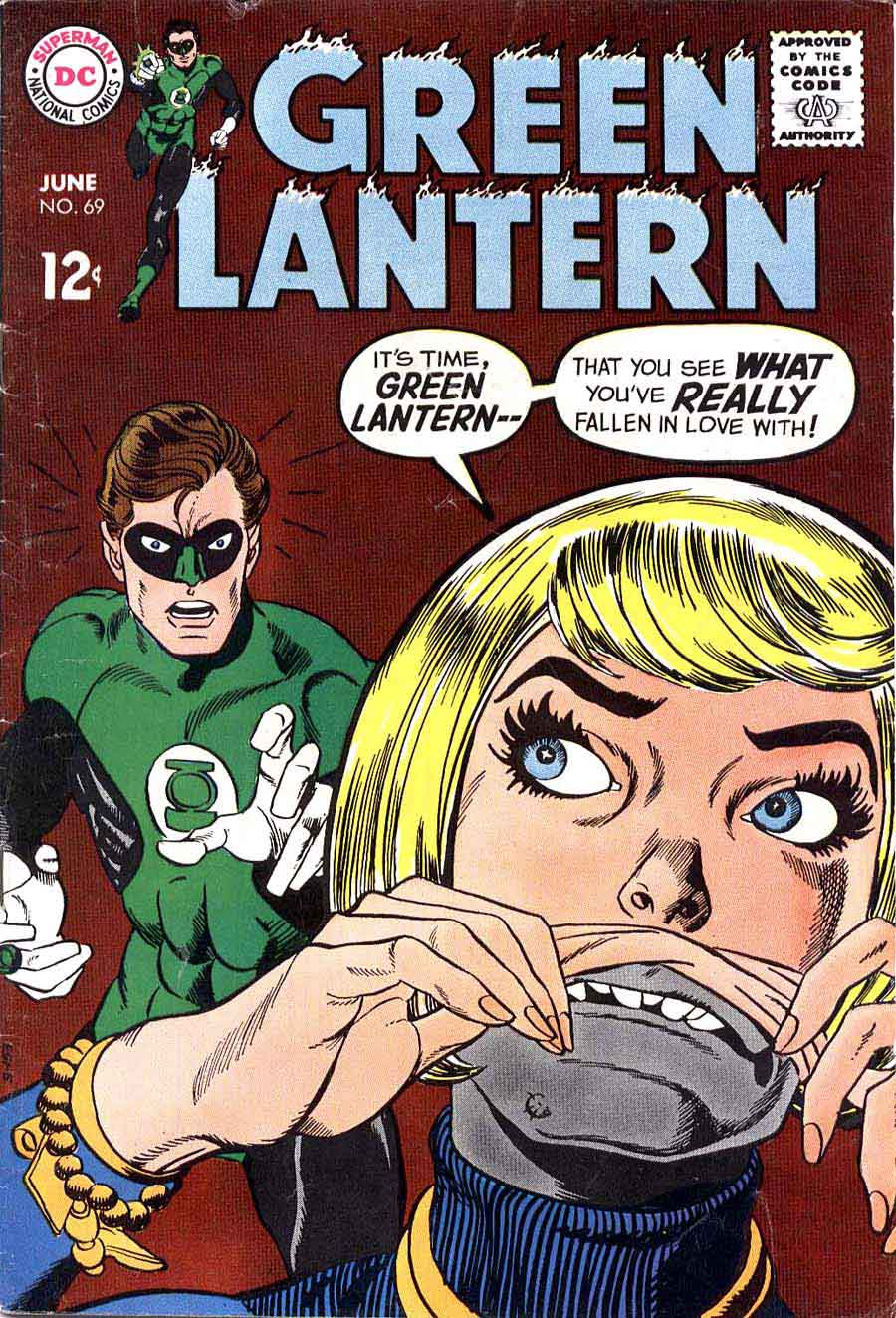 Green Lantern v2 #69 dc comic book cover art by Gil Kane