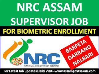 NRC Supervisor for Biometric Enrollment 2019