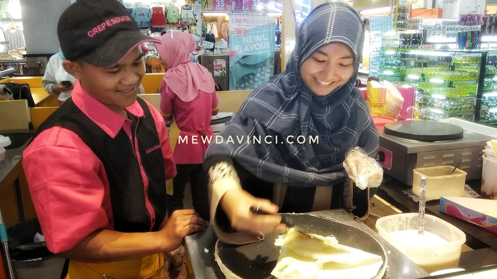 cooking class, crepe in the making