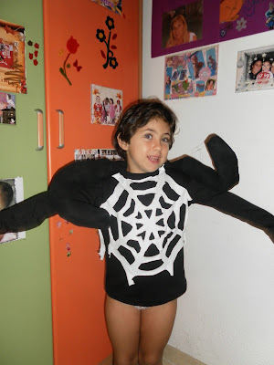 Disfraz de Araña, disfraz casero, maquillaje de araña, makeup,