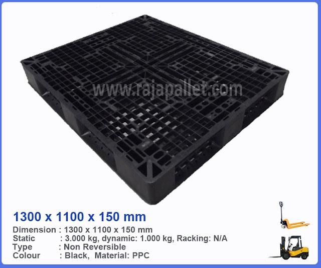 Pallet Plastik Bekas 1300 x 1100 x 150 mm
