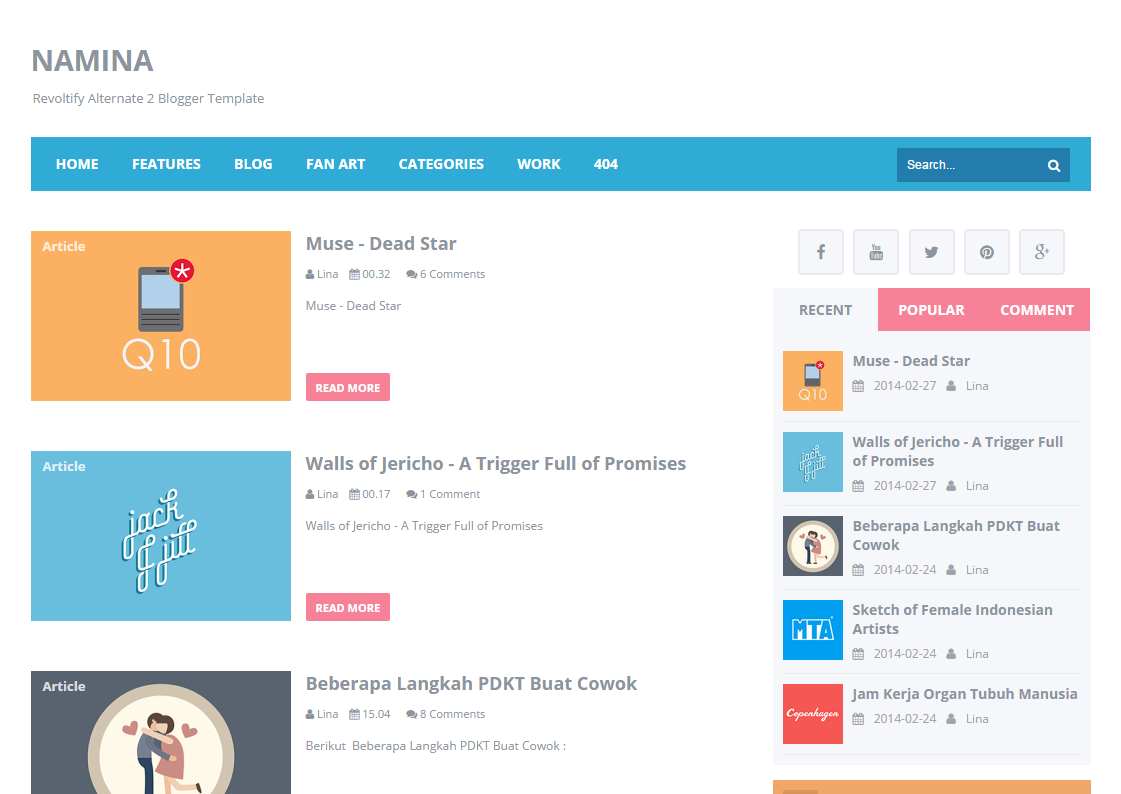 Design Office Blogger Template