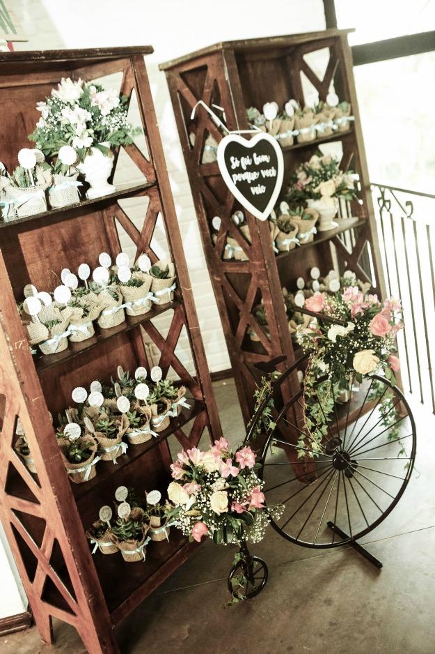 Casamento Rústico Campinas - Lembrancinha Suculentas