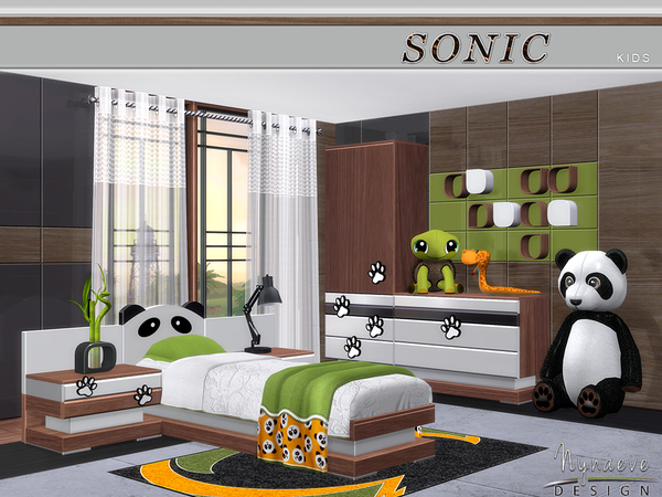 My Sims 4 Blog: NynaeveDesign's Sonic Kids Bedroom Set - TSR