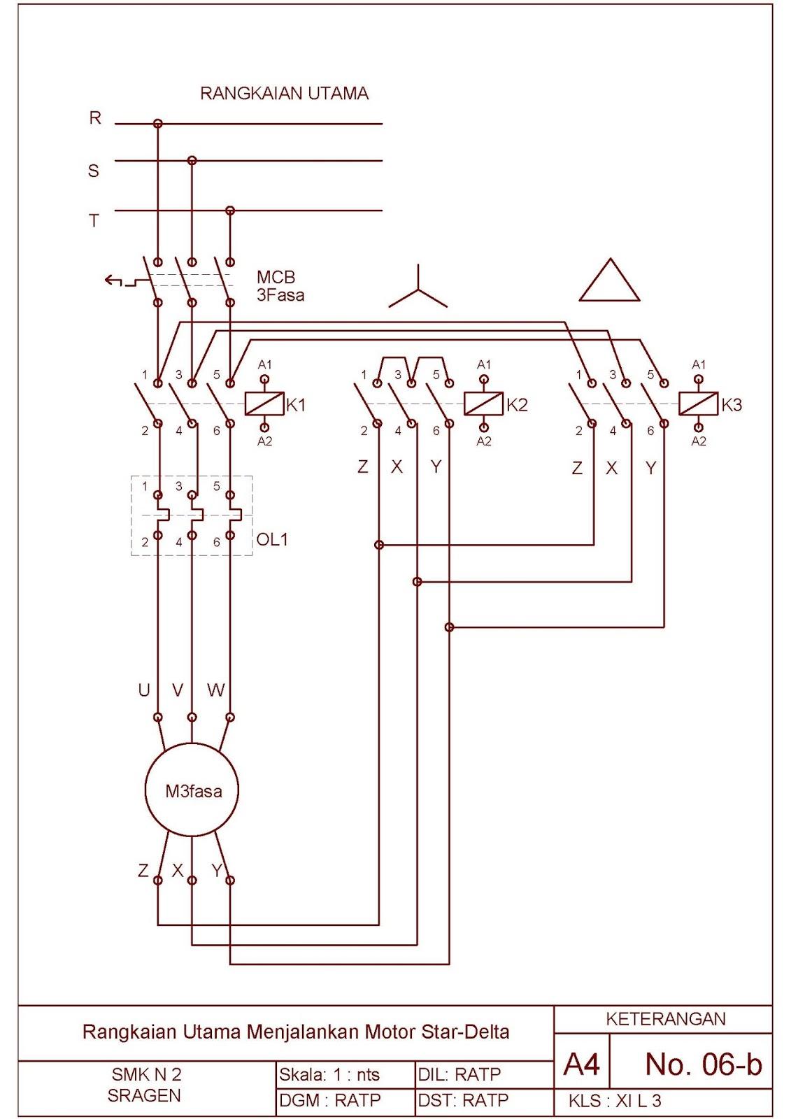 Star delta diagram daya wiring data job sheet praktek instalasi motor listrik tema rangkaian kontrol motor starter control wiring diagram star delta diagram daya ccuart Image collections