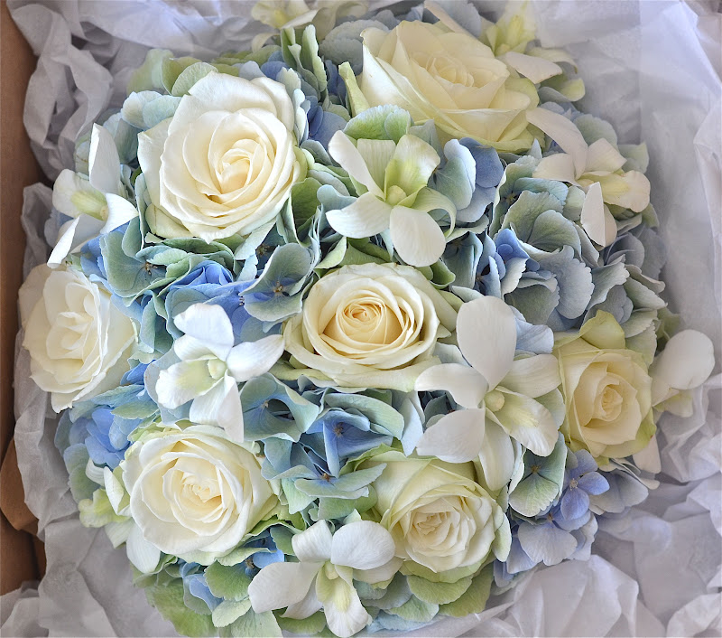 Wedding Flowers Blog: Claudia's Pale Blue,Green,Ivory