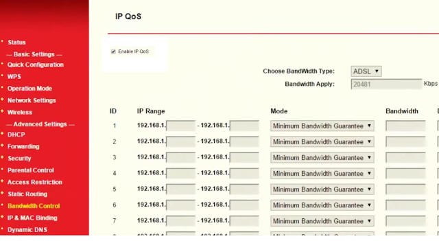 Limit WiFi Speed in iBall Router
