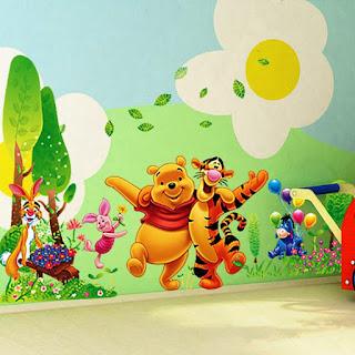 Gambar Wallpaper Dinding Winnie the Pooh Terbaru dan Lucu 2001611