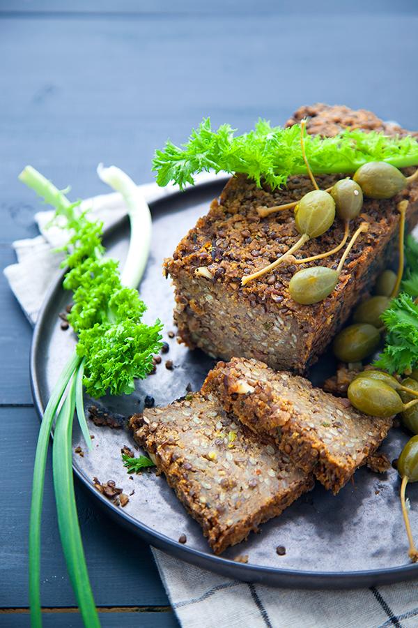 lentil loaf, pain de viande vegan, cuisine végétale, végétalienne