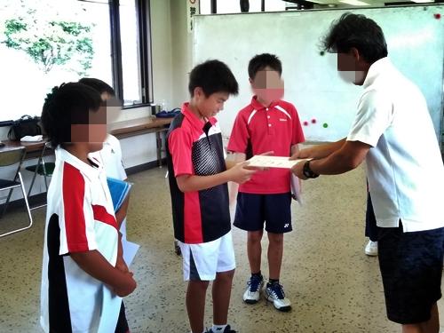 表彰式@小真木原テニスコート  クラブハウス内
