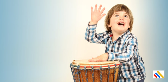 Buah hati menabuh drum